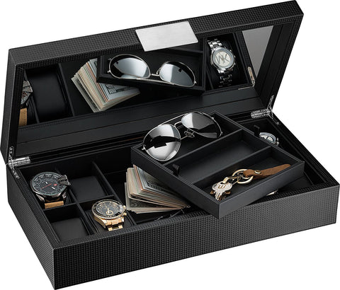 Watch and Sunglasses Box with Valet Tray