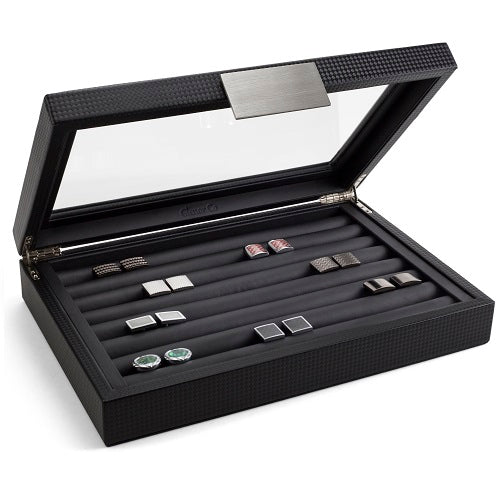 Cufflink Box for Men - Holds 70 Cufflinks