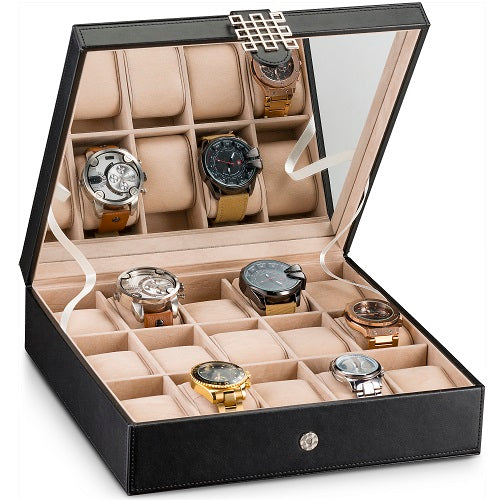 Women's Watch Organizer Box - 15 Slots