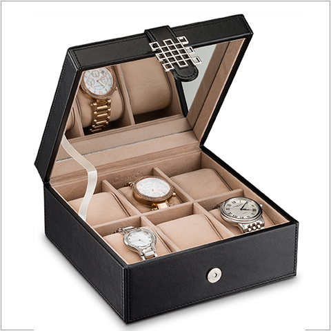 Women's Watch Organizer Box - 6 Slots