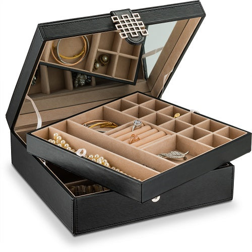 b03662d4e Jewelry Box Organizer [28 Sections, Choice of 3 Colors] – Glenor Co.