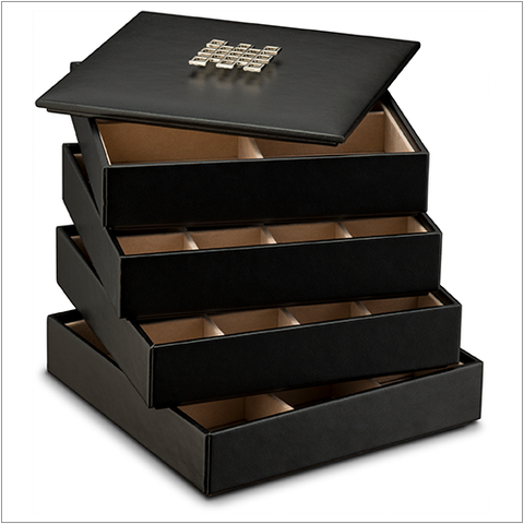 Stackable Jewelry Trays Set - 45 Slots