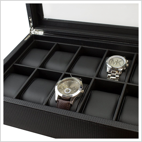 Men's Watch Organizer Box - 12 Slots