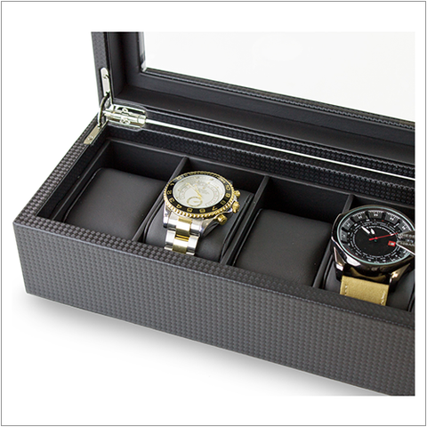 Men's Watch Organizer Box - 6 Slots