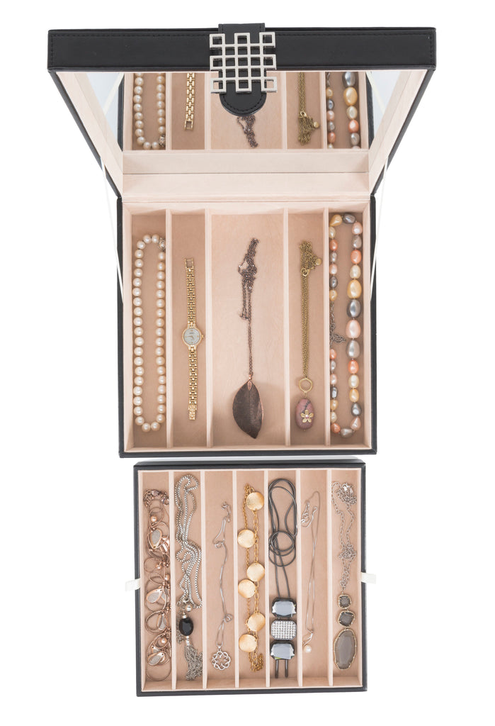 b570a98d6 Necklace Holder - Jewelry Box Organizer- 12 Section – Glenor Co.