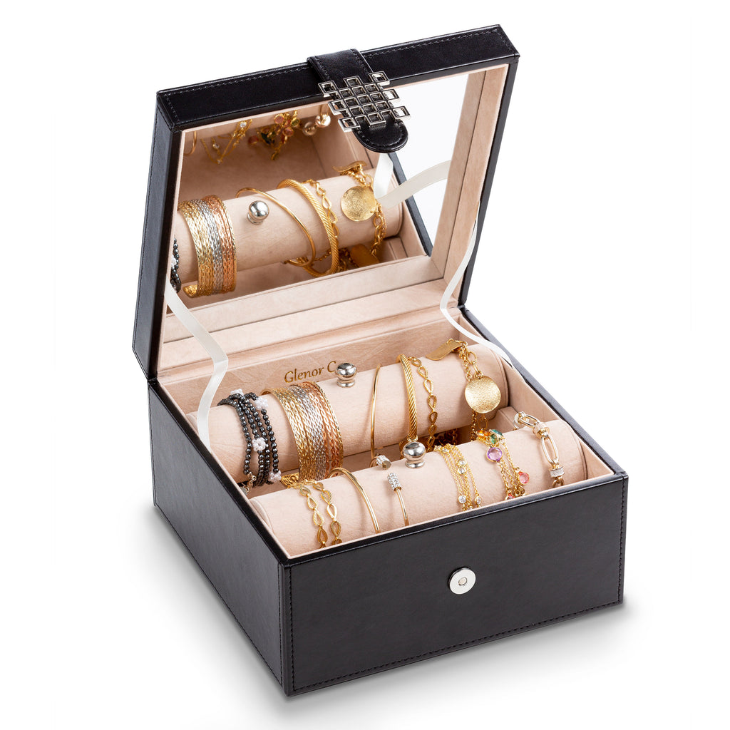 Bracelet Jewelry Box with 2 Removable Rolls