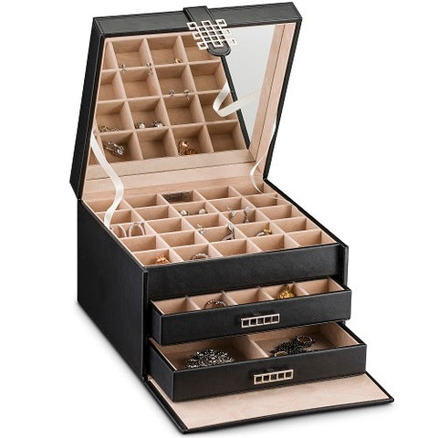 Earring Organizer Box -  50 Small & 4 Large Slots