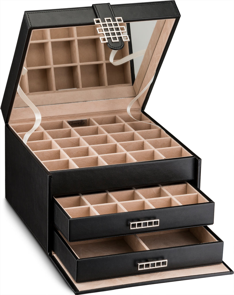 e06b0dfce Earring Organizer Box [50 Small Sections, 4 Large Sections] – Glenor Co.