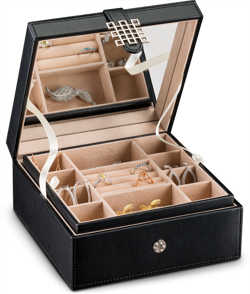 94f0c6bd1 Jewelry Box Organizer [17 Sections, Choice of 3 Colors] – Glenor Co.