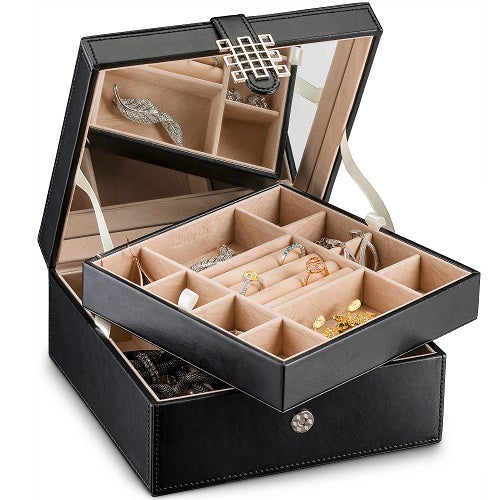 f60371ada Jewelry Box Organizer [17 Sections, Choice of 3 Colors] – Glenor Co.