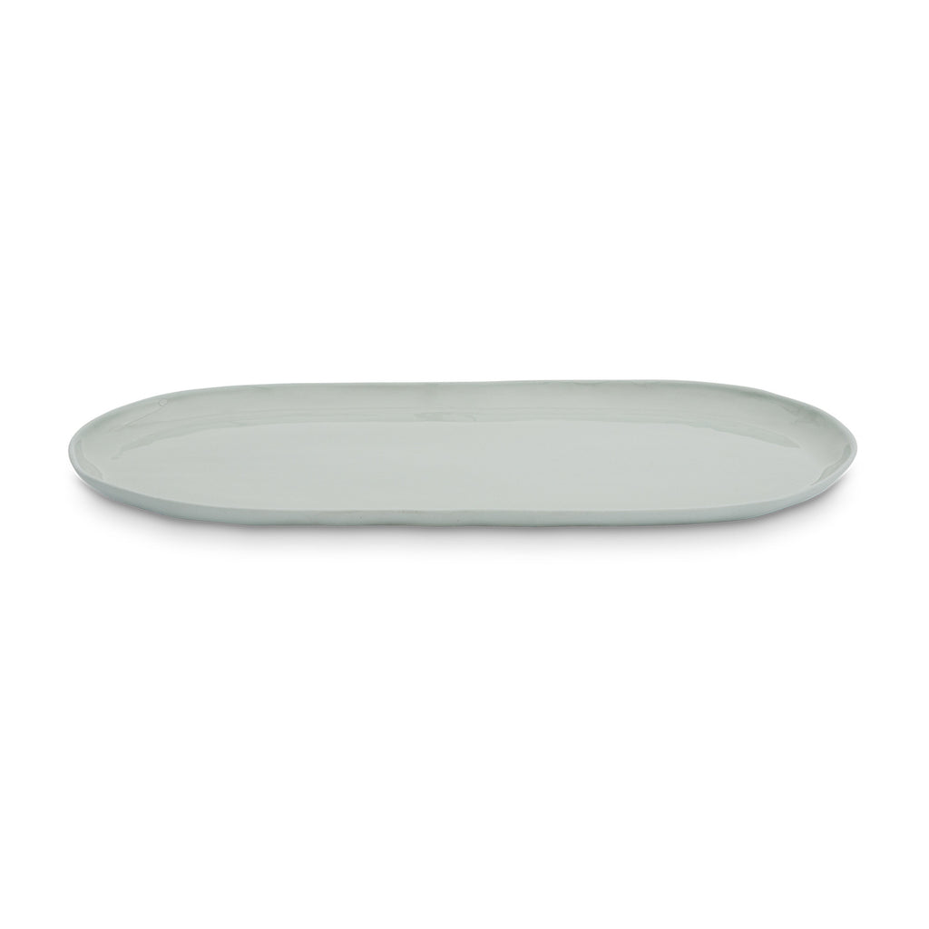 Cloud Oval Plate Light Blue (L)