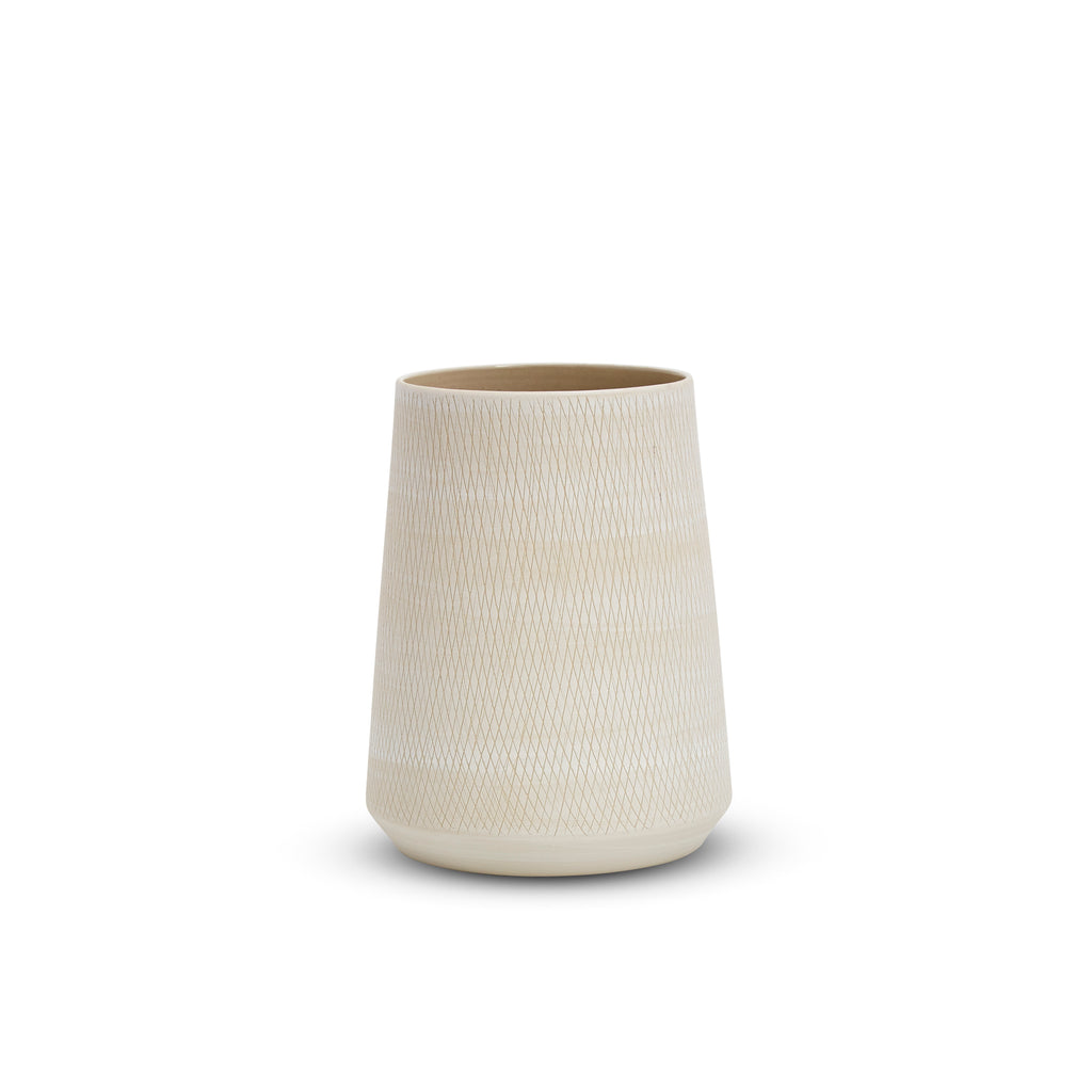 Etchings Tulip Vase (M) White