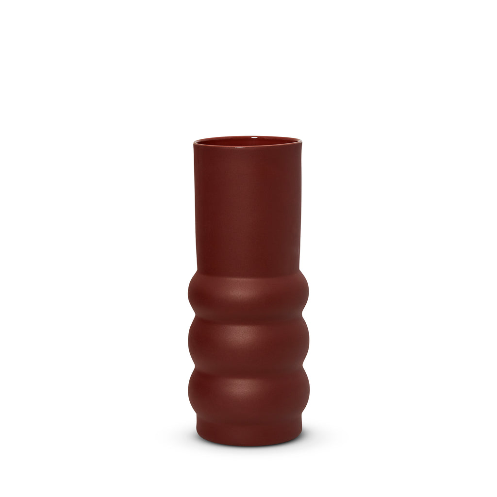 Cloud Haus Vase Burgundy (L)