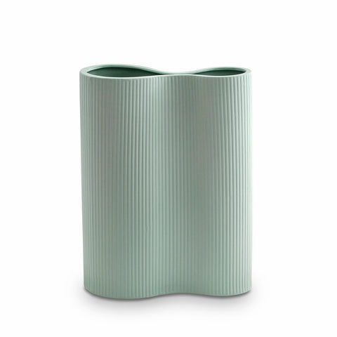 Ribbed Infinity Vase Blue (M)