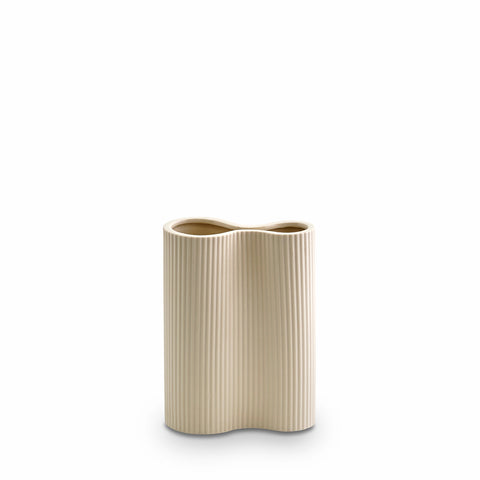 Ribbed Infinity Vase Cream (S)