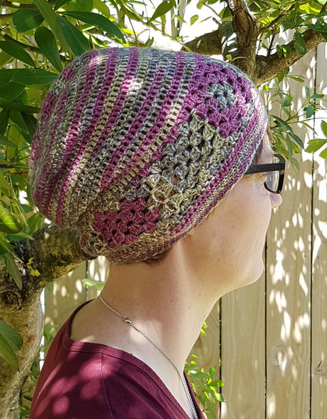 Wine slouch beanie