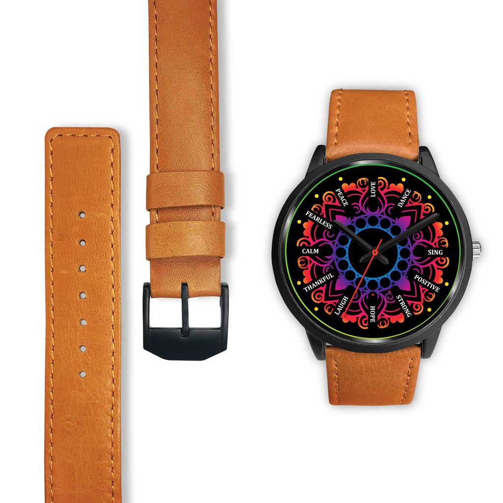 Motivational Mandala Watch - 10 Different WristBand Styles Available!