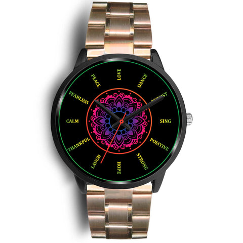 Motivational Mandala Watch -10 Different WristBand Styles Available!