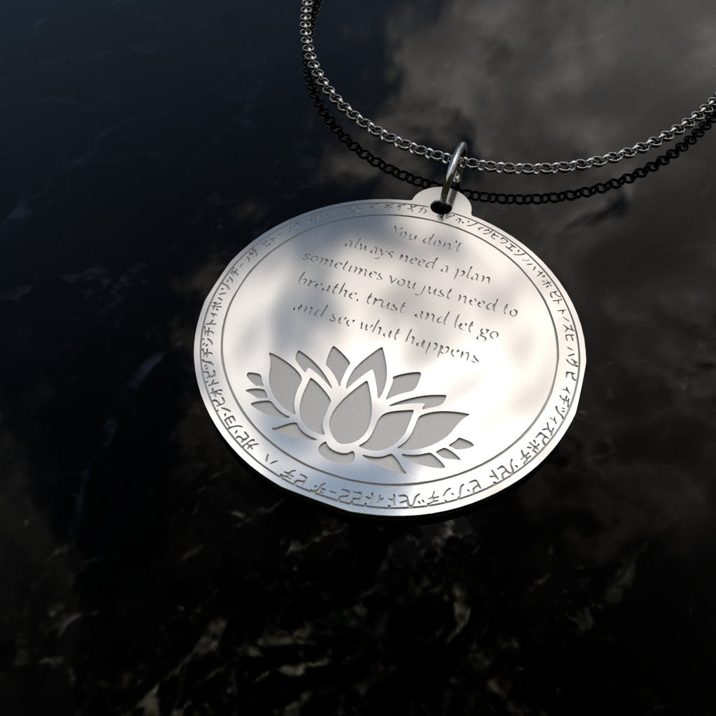 Just Breath - Silver Necklace