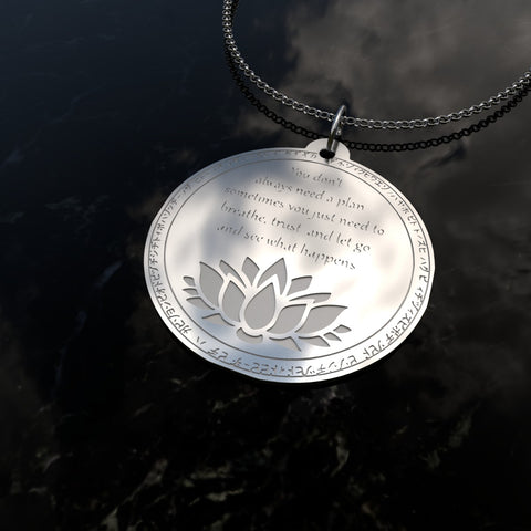 Image of Just Breath - Silver Necklace