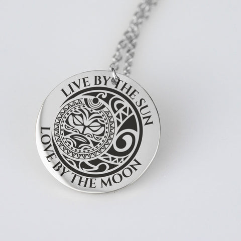Image of Pendant Necklace - Live By The Sun Love By The Moon