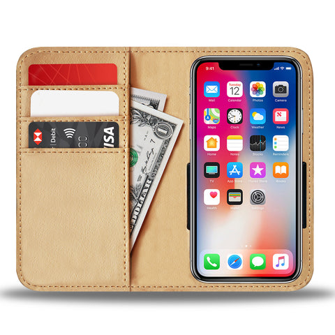 Traveler's Wallet and Phone Case with Compass Design
