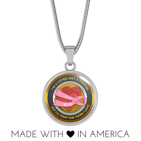 Fighter Cancer Necklace - Gift for your wife