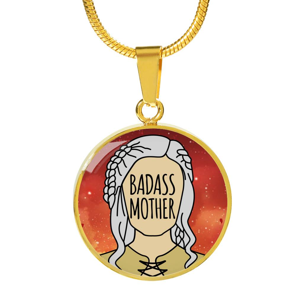 Badass Mother Necklace (Silver / Gold)
