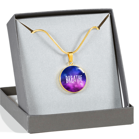 "Image of ""Breathe"" Necklace (Silver / Gold)"
