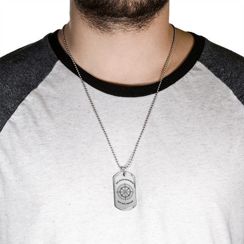 Dog Tag Necklace  - Silver Design