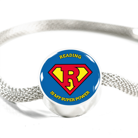 Charm Bracelet - Reading Is My Superpower