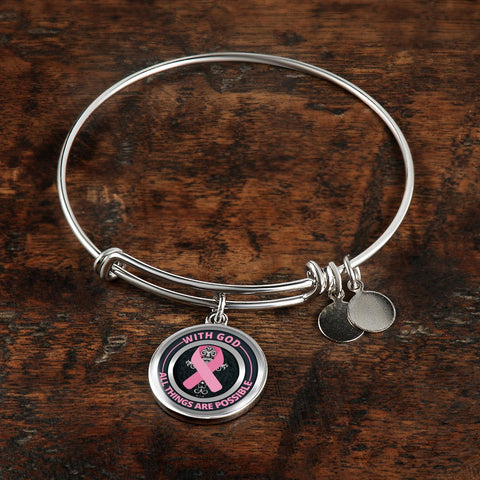 Image of Cancer Bracelet - With God All Things Are Possible