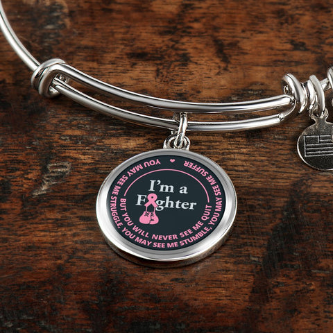 Image of Cancer Bracelet - I'm A Fighter