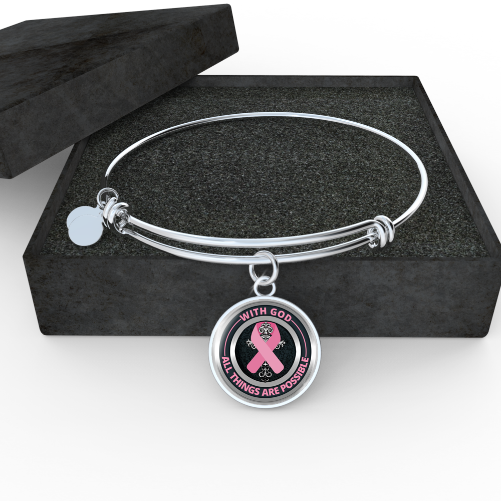 Cancer Bracelet - With God All Things Are Possible