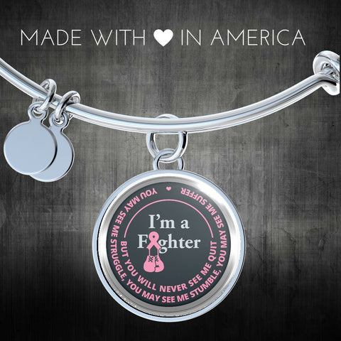 Cancer Bracelet - I'm A Fighter