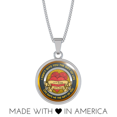 Image of Mom Loves Son Necklace