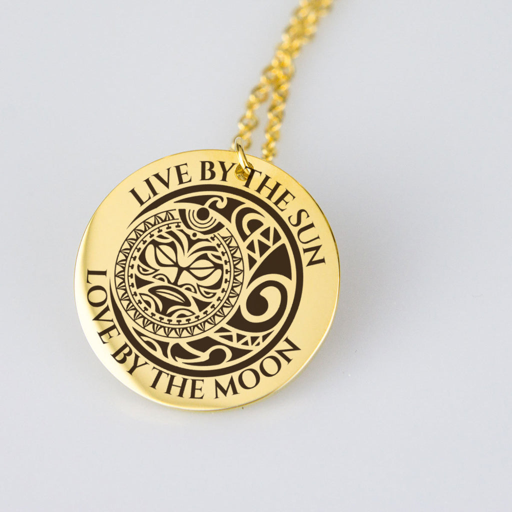 Pendant Necklace - Live By The Sun Love By The Moon