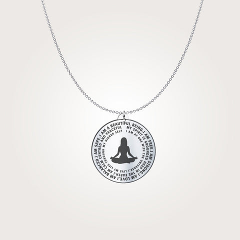Image of I Am Beautiful - Silver Necklace