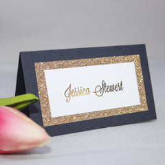 Navy Lux Place Cards -  place cards - Adore Paper
