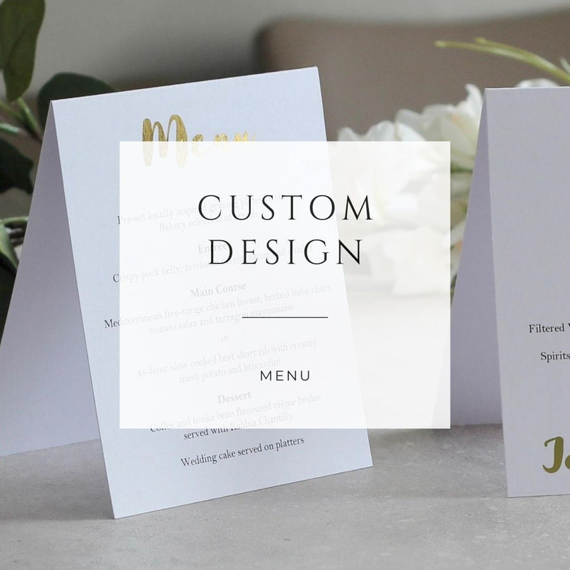Custom Design - Menu