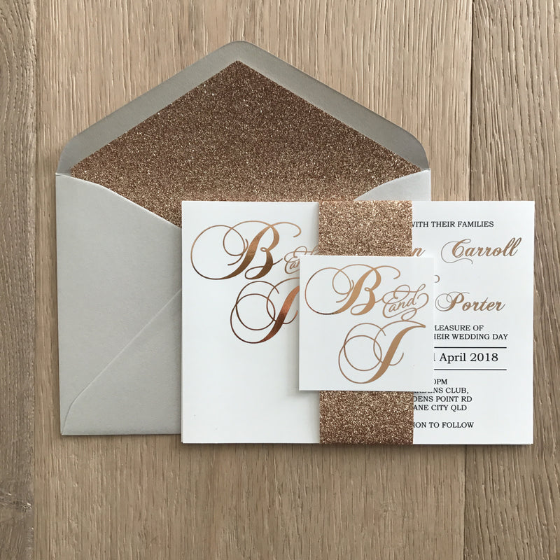 Diamond Dust - Invitation Suite -  invitation suite - Adore Paper