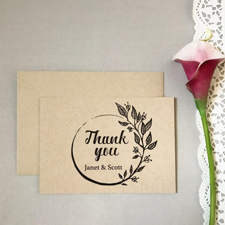 Botanical - Thank You Card