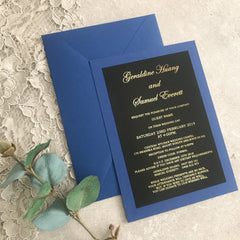 Royal Blue Charm Design -  invitations - Adore Paper