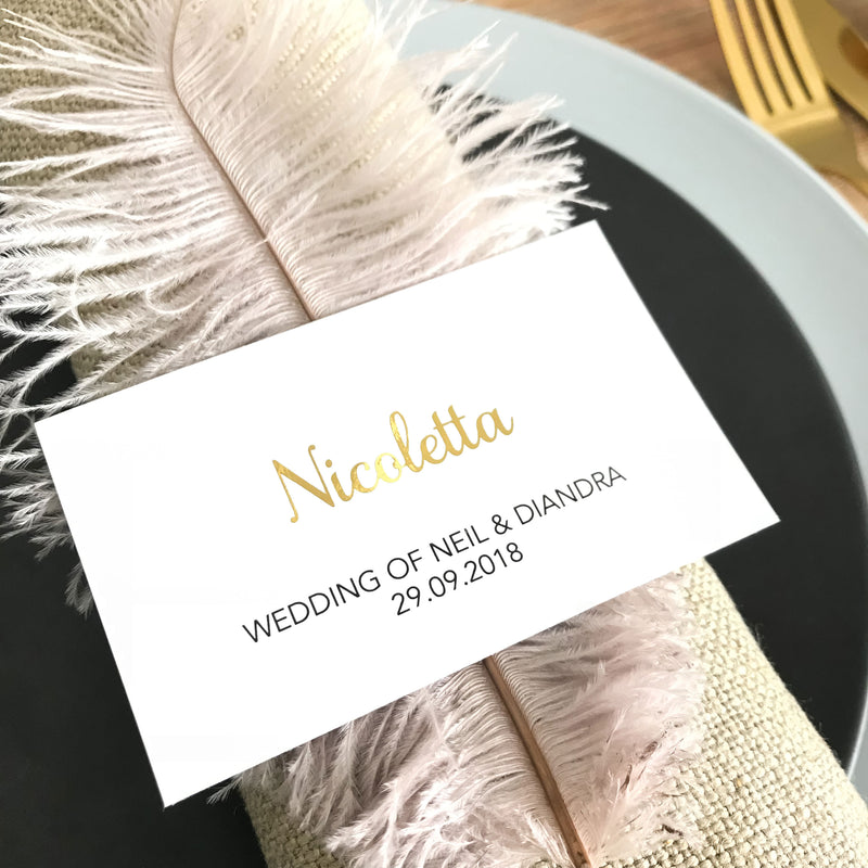 Flat Napkin Place Card -  invitations - Adore Paper