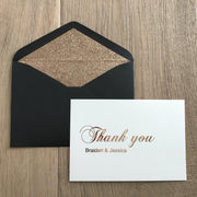 PERSONALISED THANK YOU FOLDED CARD