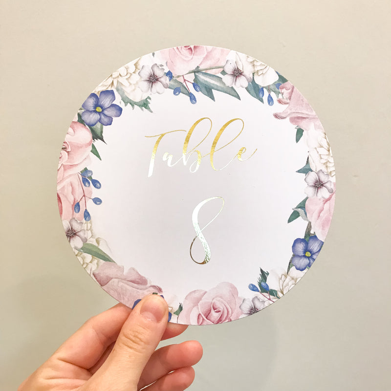 Secret Garden - Table Number -  invitations - Adore Paper