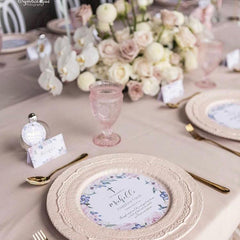Secret Garden -  Round Menu -  invitations - Adore Paper