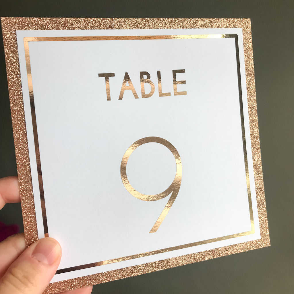 Classic Charm Table Number