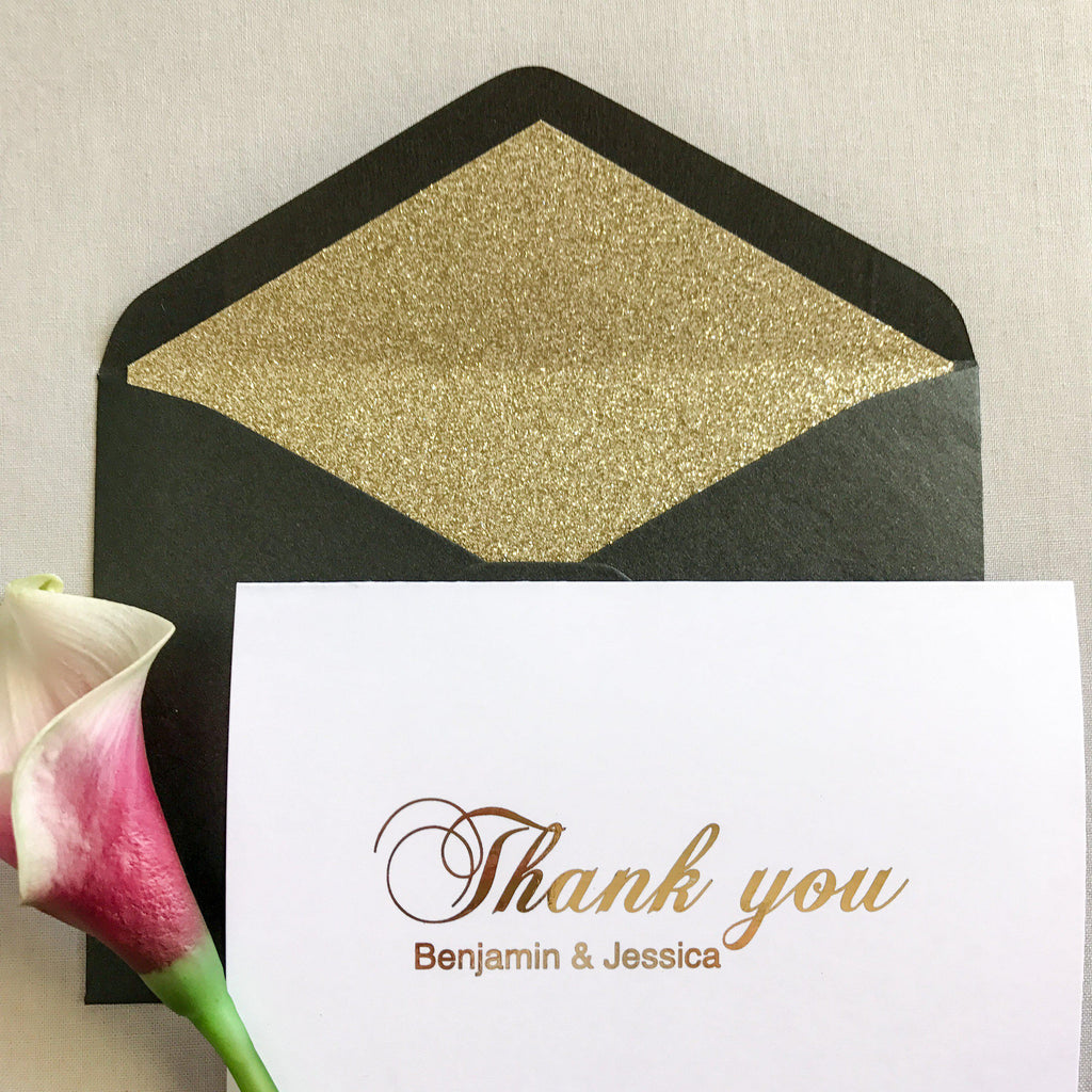 PERSONALISED THANK YOU CARD - GOLD