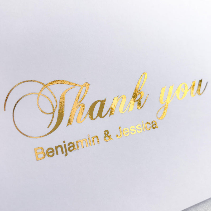 Personalised Thank you Card - Gold -  cards - Adore Paper